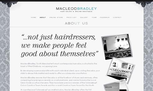 MacleodBradley Boutique Website, West Didsbury