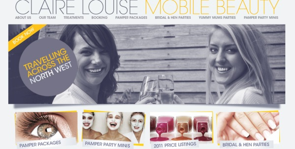Claire Louise Mobile Beauty - homepage detail