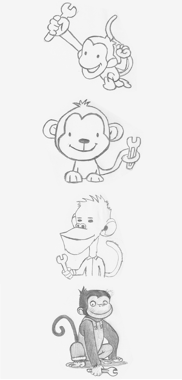 Initial design ideas - Monkey Wrench Plumbing Services, Didsbury