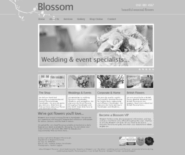 Blossom Flowers - site revamp - to be launched imminently...