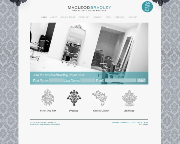 MacloedBradley - revamped website, online shop - www.macleodbradley.co.uk