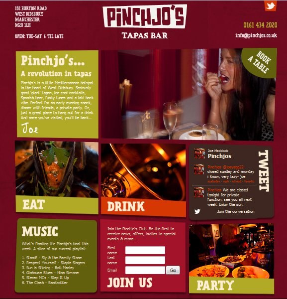 Pinchjos Tapas Bar & Restaurant, West Didsbury, Manchester