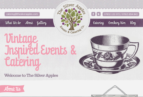 The Silver Apples Catering Co - website revamp & additional micro-site