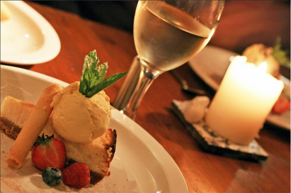 Baked Limoncello Cheesecake - Azzurro Restaurant, West Didsbury